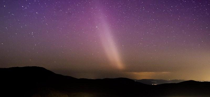 Újabb fotók: Salgótarjánból is lefotózták a sarki fényt