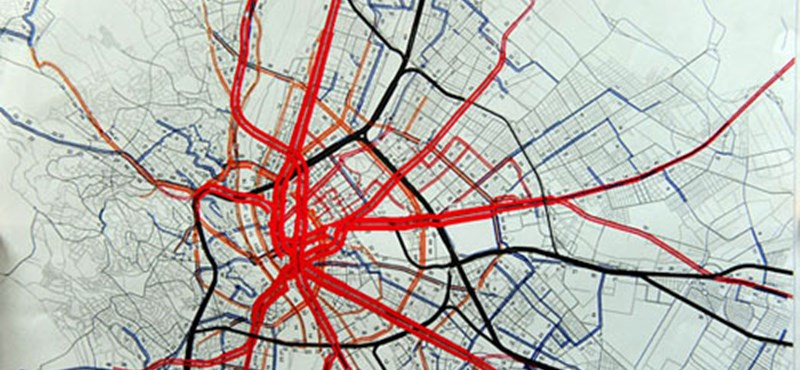 budapest forgalom térkép Itthon: Hogyan nézzen ki Budapest közlekedése 2035 ben?   HVG.hu budapest forgalom térkép