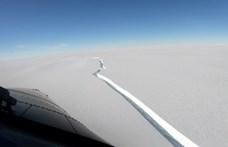London méretű jéghegy szakadt le az Antarktiszról – videó