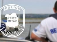 A rendőröknek kellett kimenteni négy férfit a Velencei-tóból