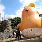 Százezrek készülnek tüntetni ellene, de Trump szerint szeretik őt a britek