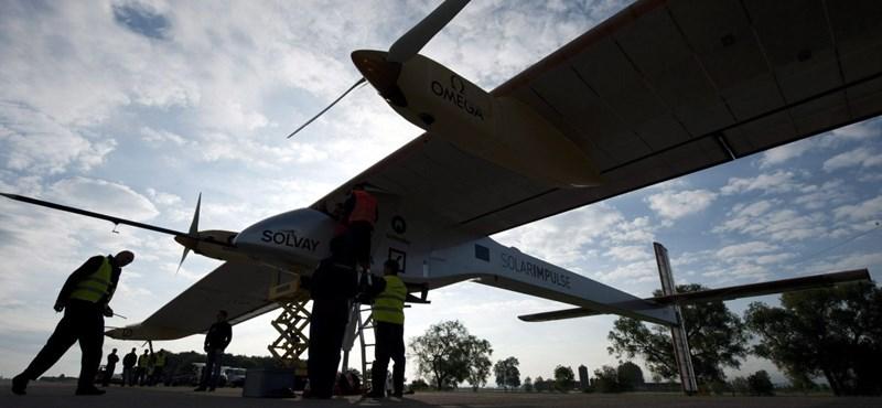 Fél napig le sem száll a Solar Impulse napelemes repülő