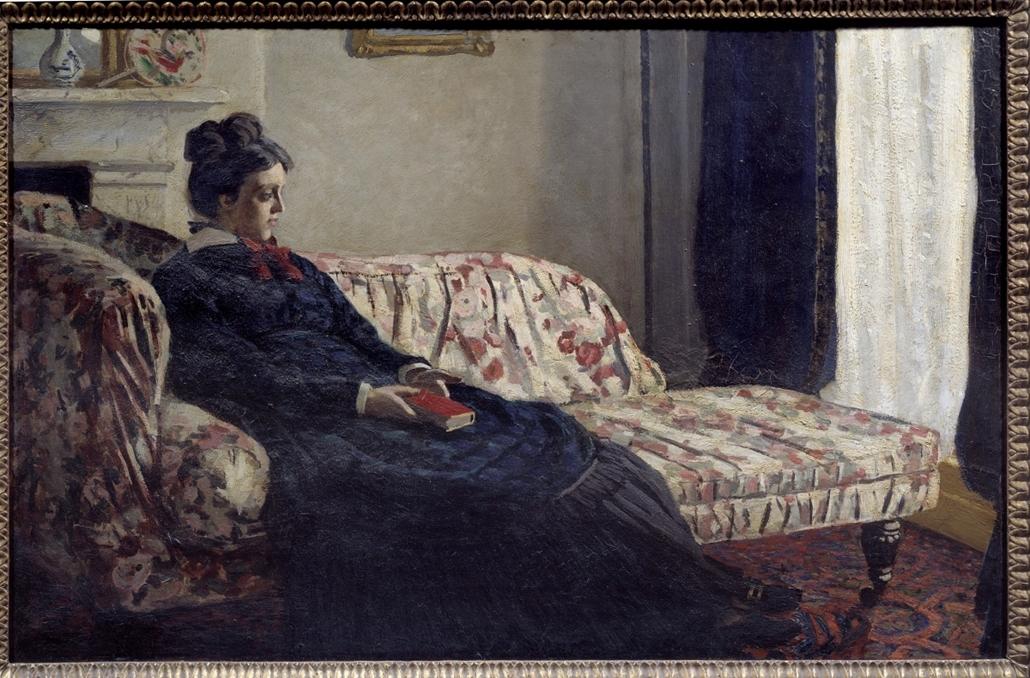 Meditáció, avagy ''Madame Monet a kanapén'' - Claude Monet műve 1871-ből - könyv világnapja nagyítás