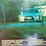 209-cel mértek be egy Nissan GT-R-t Téglásnál