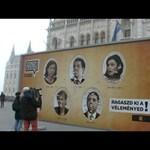 Csak órákra maradhat kint a politikusok bírálhatóságát követelő plakát - videó