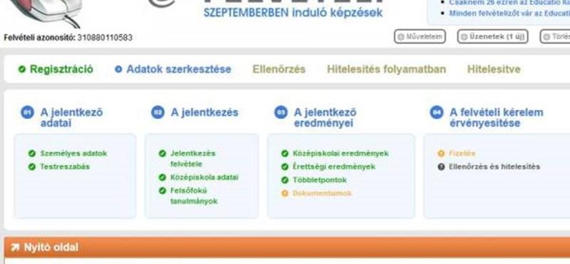 Így kell kitölteni a 2013-as online jelentkezési lapot - lépésről lépésre