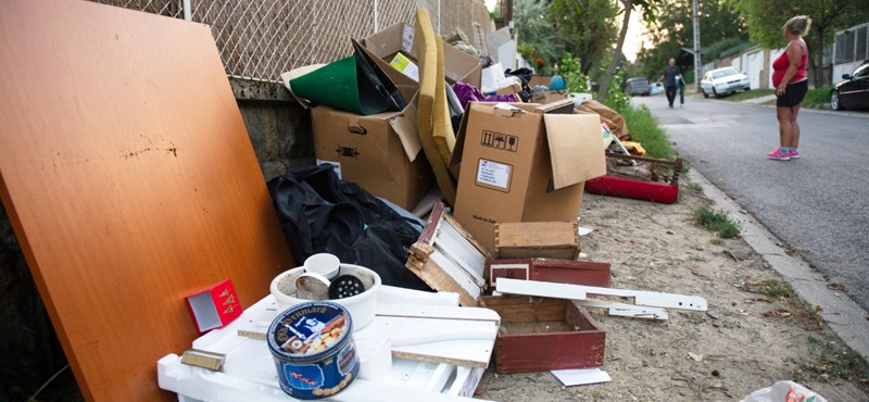 Képek egy budapesti lomtalanítás életéből