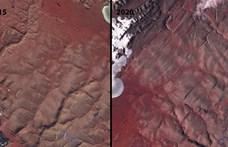 Olyan meleg a nyár Grönlandnál, hogy szőrén-szálán eltűnt két jégsapka