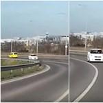 Épül a ferihegyi turbókörforgalom, itt is van az első videó, hogy szemből jön egy autós