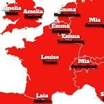 Hazánk kilóg a mezőnyből a keresztnevek Európa-térképén