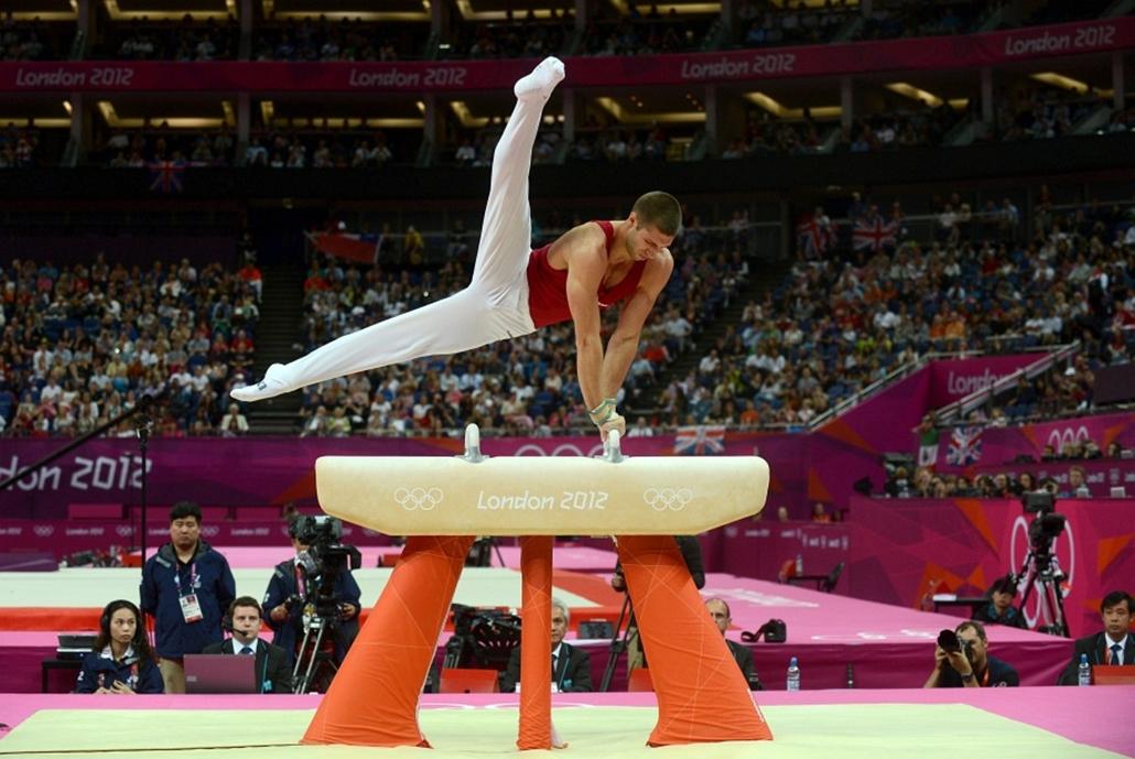 Berki Krisztián aranyat érő gyakorlata a londoni olimpián.