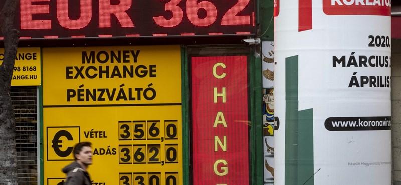 362-es árfolyamon zárta a forint 2020-at
