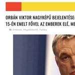 Olyan Orbán-álbejelentés terjed a neten, hogy a fal adja a másikat