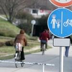 Biciklisek lepik el Hévíz környékét