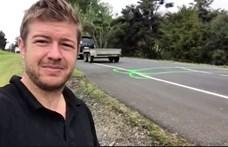 Péniszeket rajzolt az útra egy új-zélandi férfi, mert zavarták a kátyúk