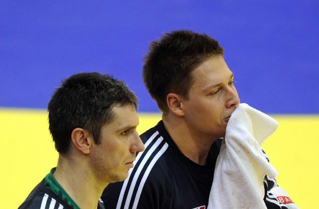 2012. január 24. - Fazekas Nándor és Mikler Roland kapusok a magyar-szlovén mérkőzésen
