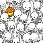 Szemkápráztató feladvány: megtalálja a szellemet a csontvázak között?