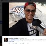 Vicces ez a C. Ronaldo – alufóliába csomagolta csapattársa kocsiját