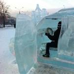 Jégből készült Toyota Land Cruiser Oroszországban - fotók