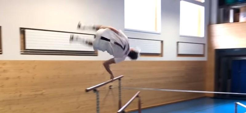 Videó: Folytatja őrült látványos edzéseit a svájci Andri Ragettli