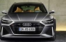 Erős puttonyos: itt a kereken 600 lóerős hibrid Audi RS6 Avant
