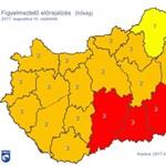Megjött az újabb afrikai hőhullám, vörös figyelmeztetést adtak ki