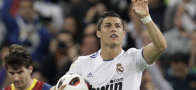 Cristiano Ronaldónak nem kell száz meccs a száz gólhoz