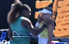 Serena Williams megvigasztalta legyőzött és könnyező ellenfelét