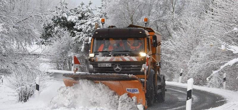 Lecsapott a tél Európára