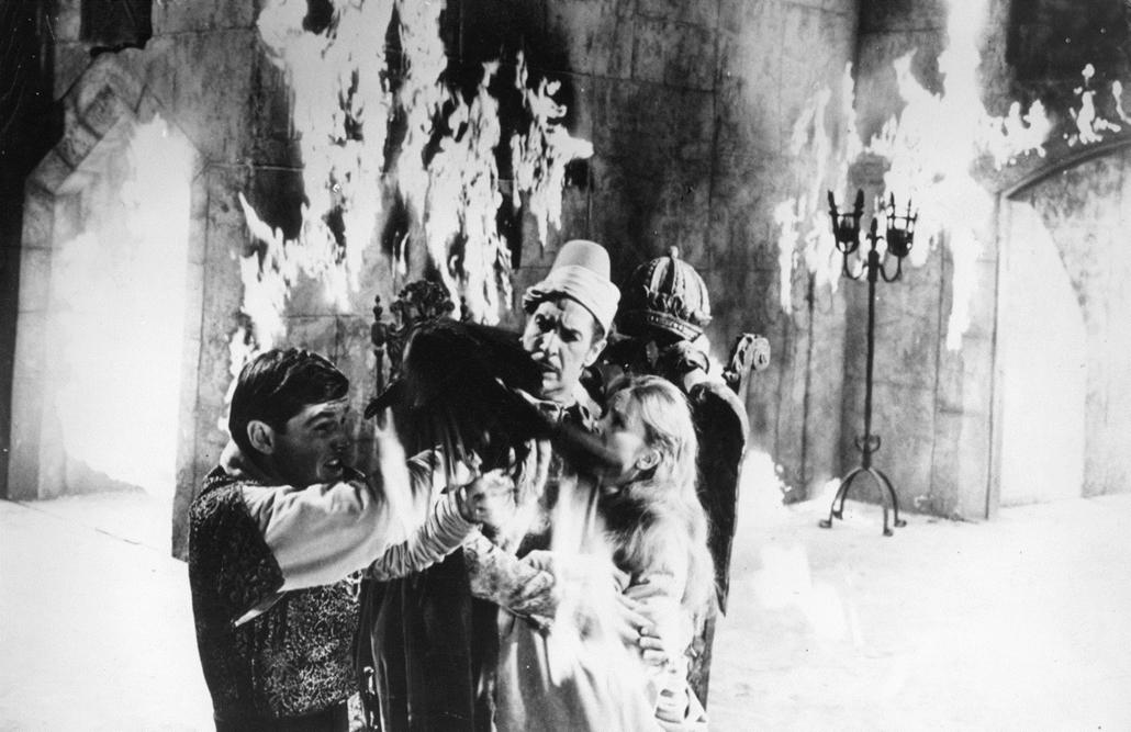 afp.1962. - Jack Nicholson és Vincent Price A holló című horrorkomédiában 1962-ben. - Jack Nicholson nagyítás