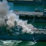 Eloltották a kigyulladt hadihajót San Diegóban