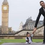 Fotó: egy 54 centis férfi és egy 251 centis férfi találkozása