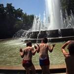 Rekkenő hőség, strandokon hűsölők Budapesten - Nagyítás