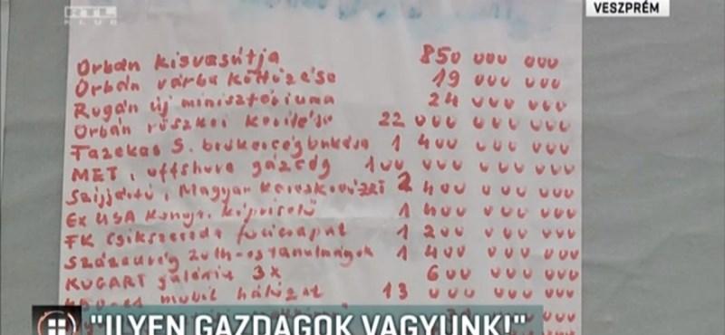 Simicska hirdetőoszlopán jelentek meg a kormány feleslegesnek vélt költései