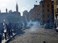 Bejrúti robbanás: zavargások a városban, a tüntetők kormányzati épületeket támadnak
