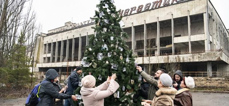 Pripjatyban 1985 óta először állítottak karácsonyfát