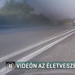 Videó: Dupla záróvonalon át előzte versenytársát egy autós a 82-esen