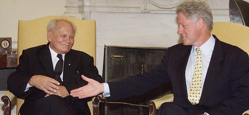 Utoljára Göncz Árpádot fogadták a legmagasabb szinten a Fehér Házban