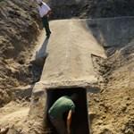 Fotók: Világháborús bunkert találtak egy óvoda udvarán Csepelen