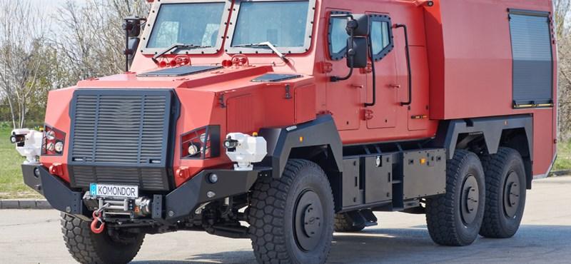 Körkamerás páncélozott szuper-járművek készültek Budapesten