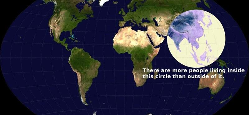 Gondolta volna? Ekkora helyen él a világ népességének fele