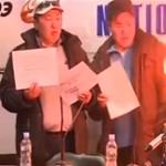 Videó: felgyújtotta magát egy mongol szakszervezetis