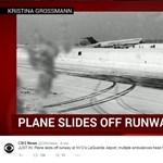 Lerohant a havas kifutópályáról egy repülő New Yorkban - fotók