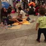 Egy perc cukiság: egy alig totyogó kisgyerek kalandjai a Keleti-aluljáróban