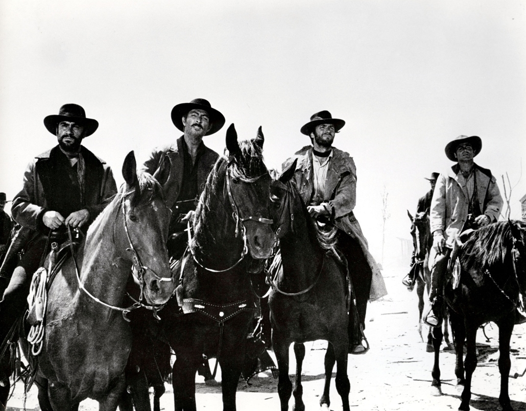 afp.1966. - Lovasok A Jó, a Rossz és a Csúf forgatásán 1966-ban. - Clint Eastwood