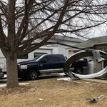 Pieces of the engine of a take-off plane crashed into the suburbs of Denver