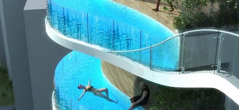 Új divat a toronyházakban: medence a terasz helyén