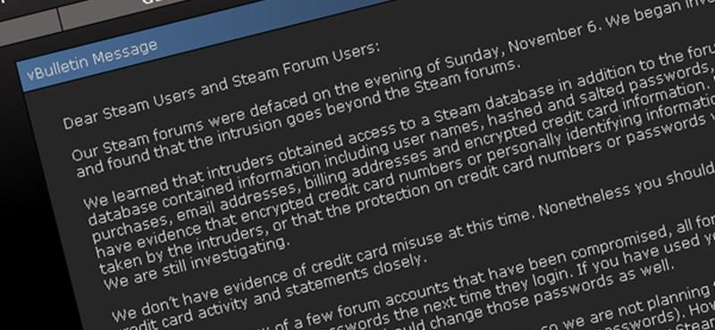 Feltörték a Steam-et - állítólag biztonságban vannak a hitelkártya adatok