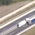 Álcázott rendőrkamionnal buktatták le a szabálytalan sofőröket az autópályán