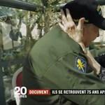 75 év után találkozott az amerikai veterán és egykori francia szerelme – videó
